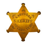 Las Vegas sheriff star royalty free stock image