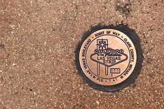Las Vegas sidewalk sign Royalty Free Stock Photography