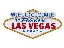 Las Vegas Sign 1. Las Vegas Sign in white backgropund, easy to isolate Stock Images