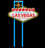 Las vegas sign. In black background Royalty Free Stock Photography