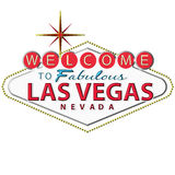 Las vegas sign. In black background Stock Photography