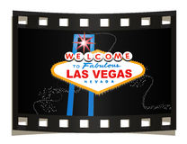 Las Vegas sign. Illustration of Welcome to Fabulous Las Vegas Nevada USA or United States of America, red star above all on a dark light effect background with Royalty Free Stock Photos