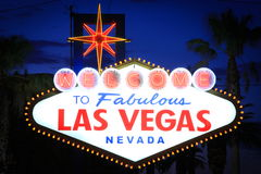 Las vegas sign. Image of the famous Las Vegas sign at twilight Royalty Free Stock Image