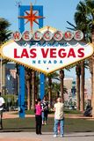 Las Vegas sign. Famous  Welcome to Las Vegas  sign Stock Image