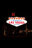 Las Vegas Sign. Bright lit Las Vegas sign under the night sky Stock Images
