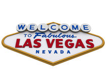 Las Vegas Sign 3. Las Vegas Sign in white backgropund, easy to isolate Royalty Free Stock Photos
