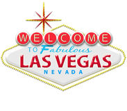 Las vegas sign. In black background Royalty Free Stock Photos
