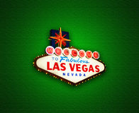 Las Vegas sign background Stock Photography