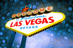 Las Vegas Sign with bokeh background Royalty Free Stock Photography