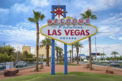 Las Vegas sign. The fabulous Welcome Las Vegas sign Royalty Free Stock Photos