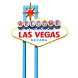 Las Vegas sign. Famous Welcome to Fabulous Las Vegas sign isolated Stock Photo
