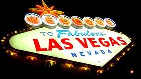Las Vegas Sign HANDHELD 1 stock footage
