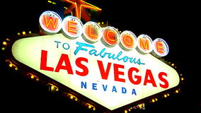Las Vegas Sign 1 stock video footage