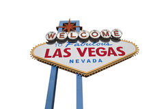Las Vegas Sign Isolated with Clipping Path Royalty Free Stock Photo