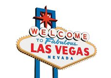 Las Vegas Sign Isolated on White Vector Royalty Free Stock Images