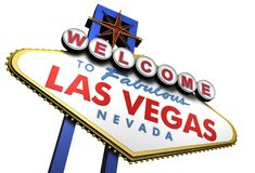 Las Vegas Sign, Nevada royalty free illustration