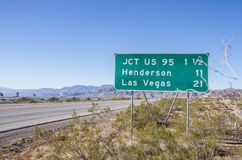 Las Vegas sign,Nevada. Las Vegas sign on the side of highway,Nevada Stock Images