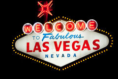 Las Vegas sign at night Royalty Free Stock Photo