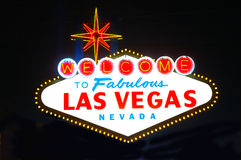 Las Vegas Sign Night Royalty Free Stock Photo