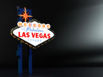 Las Vegas Sign with Room for Type Royalty Free Stock Image