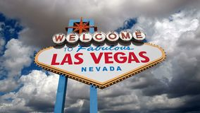 Las Vegas Sign Time Lapse. Welcome to fabulous Las Vegas sign time lapse clouds stock video