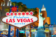 Las Vegas Sign Royalty Free Stock Photography