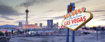 Las Vegas Sign. Welcome to Fabulous Las Vegas Nevada Sign Royalty Free Stock Photo