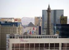 Las Vegas skyline. The historic Las Vegas Strip is photographed at daytime Royalty Free Stock Image