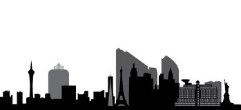 Las vegas skyline vector illustration