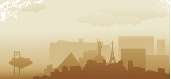 Las Vegas skyline. Abstract vector illustration Stock Photos