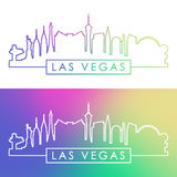 Las Vegas skyline. Colorful linear style. stock illustration
