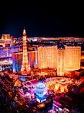 Las Vegas-Skyline-Nacht lizenzfreies stockfoto