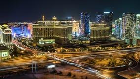 Las Vegas Skyline Panning Night Time Lapse stock video