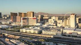 Las Vegas Skyline Panning Time Lapse stock video
