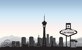 Free Las Vegas Skyline. Travel American City Landmark Background. Urb Stock Images - 96893874