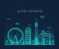 Las Vegas skyline vector illustration linear Stock Photo