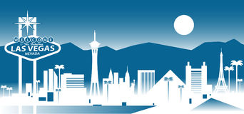 Las vegas skyline. Vector illustration of Las Vegas Nevada skyline Royalty Free Stock Images