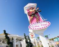 Las Vegas som gifta sig kapellet Royaltyfri Foto