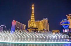 Las Vegas springbrunnar Arkivfoto