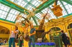 Las Vegas, Stany Zjednoczone Ameryka, Maj - 05, 2016: Japoński kwiecenie ogród przy luksusowym hotelem Bellagio Fotografia Stock