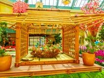 Las Vegas, Stany Zjednoczone Ameryka, Maj - 05, 2016: Japoński kwiecenie ogród przy luksusowym hotelem Bellagio Fotografia Royalty Free