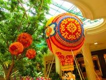 Las Vegas, Stany Zjednoczone Ameryka, Maj - 06, 2016: Kwiaty instalacyjni przy Wynn kasynem i hotelem Obrazy Royalty Free