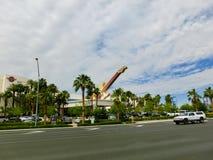 Las Vegas, Stany Zjednoczone Ameryka, Maj - 06, 2016: W centrum miasta hard rock kawiarni hotel Obraz Stock