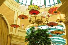 Las Vegas, Stany Zjednoczone Ameryka, Maj - 06, 2016: Wnętrze przy Wynn kasynem i hotelem Obrazy Royalty Free