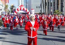 Las Vegas stora Santa Run Royaltyfria Foton