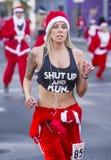 Las Vegas stora Santa Run Arkivfoto
