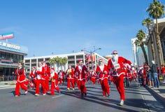Las Vegas stora Santa Run Arkivfoton