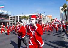 Las Vegas stora Santa Run Royaltyfri Fotografi