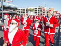 Las Vegas stora Santa Run Royaltyfria Bilder