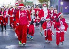 Las Vegas stora Santa Run Royaltyfri Bild